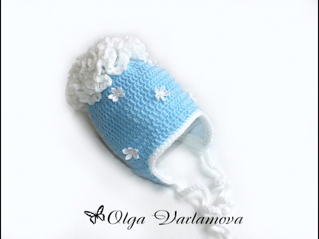МК Теплая шапочка крючком с подкладом из флиса Часть 1 Crochet Crocheted hat cap