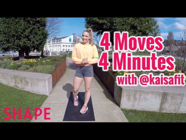 4 Minutes 4 Moves Total Body Workout with @KaisaFit Shape