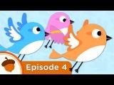 4 серия - Обучающий мультфильм на английском языкеCartoon - Sparrows Learn to Fly  Treetop Family Ep. 4  Full Episode