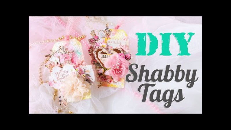 DIY. Shabby Tags. Scrapbook tutorial. Scraps Of Darkness September Blush Kit