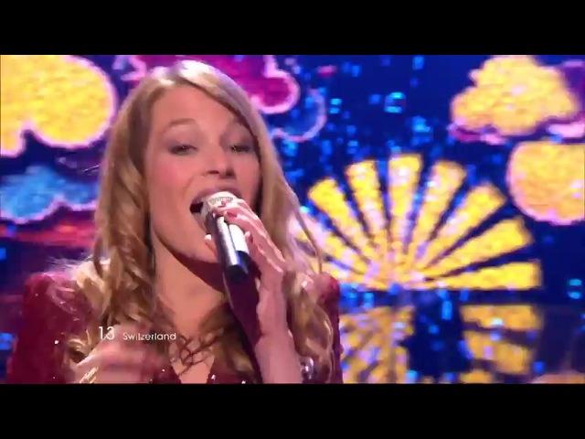 Anna Rossinelli In Love for a While 25 место Швейцария Евровидение 2011