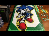 Sonic the Hedgehog (In 56,653 Dominoes!)