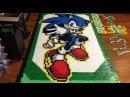 Sonic the Hedgehog In 56,653 Dominoes!