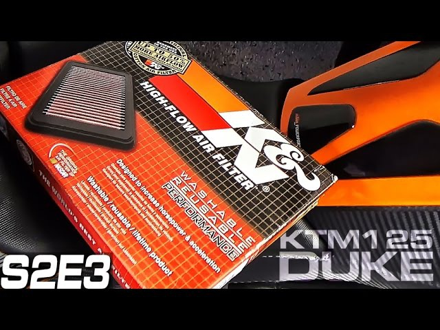 KTM Duke 125 200 390 Air Filter Change KN KT-1211 How To Wymiana Filtra Powietrza Fitting S02E03