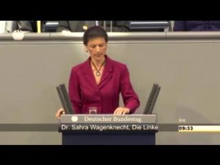 Сара Вагенкнехт ЖЕСТКО НАЕХАЛА на Ангелу М. за критику России и Путина