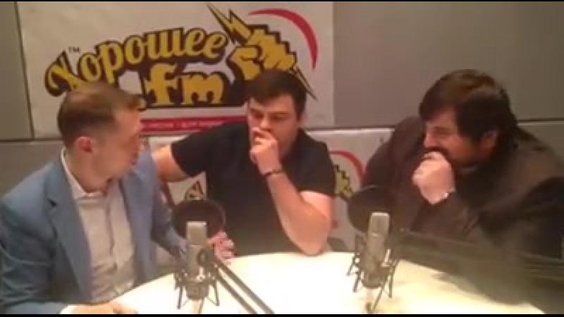 Шарип Умханов и Нико Неман во время записи программы Место Встречи с Валентином Малюговым на радио Хорошее FM(05.06.2016)