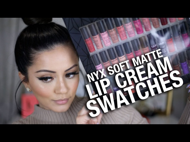 FULL NYX Soft Matte Lip Cream Swatches... ALL COLORS!!