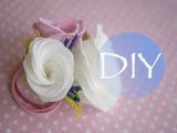 Цветы из зефирного фоамирана - резинка с эустомами Flowers of marshmallow foamiran - gum eustoma