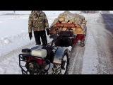 Зимой за дровами на мотоблоке МТЗ Беларус 09