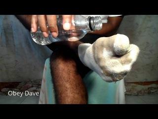 Dirty Wet Male Socks & My Bare Feet