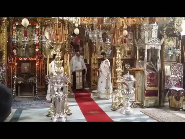 Святая Горая Афон Эсфигмен. Архимандрит Мефодий с братией.