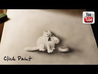 Кот Саймона Объемный РИСУНОК карандашом Simon's Cat YouTube