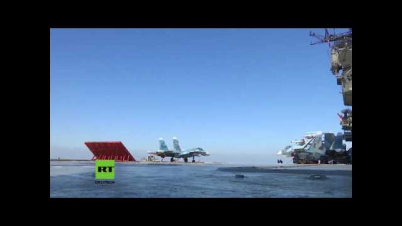"""Russlands Verteidigungsministerium zeigt """"Admiral Kusnezow in Aktion"""