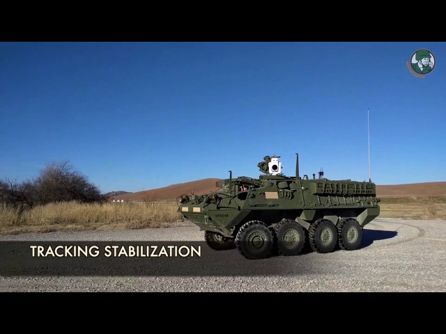 U S Army demonstrates MEHEL 2 0 laser weapon on Stryker 8x8 armoured combat vehicle