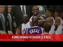 12.17.96 - Dennis Rodman Almost Fights Shaq (MJ Pippen Wrestles Rodman)