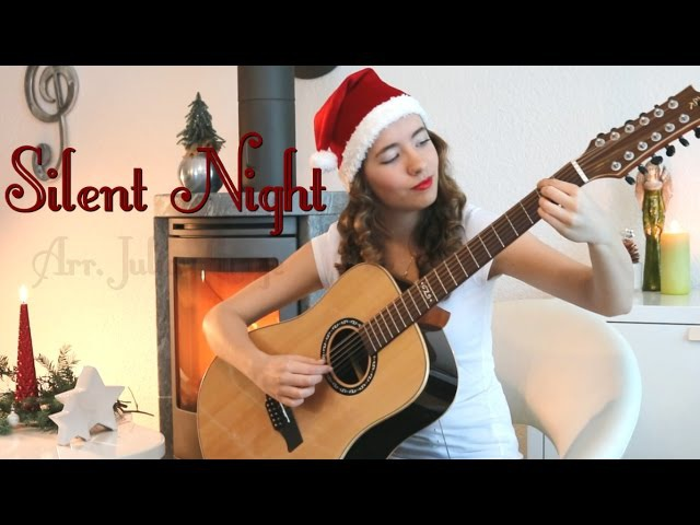 Silent Night on a 12 string guitar Julia Lange Fingerstyle Classical guitar