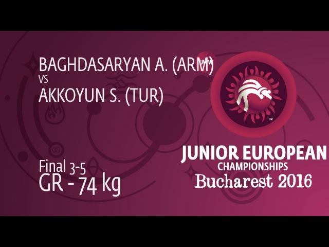 S. AKKOYUN (TUR) df. A. BAGHDASARYAN (ARM) by TF, 8-0