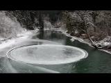 В штате Вашингтон на замерзшей реке обнаружили ледяной диск идеальной круглой формы