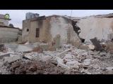 Последствия авиадуаров ВКС РФ по аль-Жина и Атареб, куда были выведены боевики и переселены беженцы с восточного Алеппо