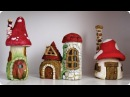 ❣DIY Faux Stones Wood - Fairy House Jars❣