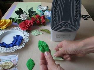 Лист дикой розы из фоамирана. Как работать с молдами. Автор МК: Заряна