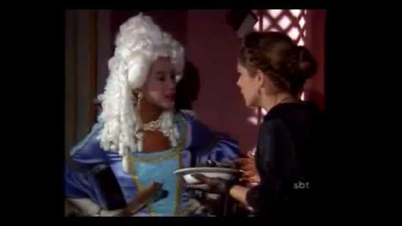 Xica da Silva - Xica oferece feijoada com a carne do escravo Damião para os convidados