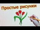 Простые рисунки 181 Как просто нарисовать тюльпаны ✿✿✿