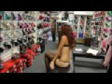 Stockings Show with Rhinestone Bordello Heels At Shoes Of Hollywood