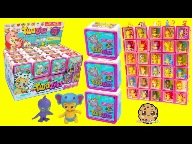 Full Box Of 30 Twozies Baby Surprise Blind Bag Boxes Each with Animal Babies