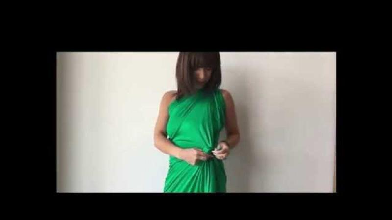 Кусок ткани и множество вариантов платьев и блузок без иголки и нитки!