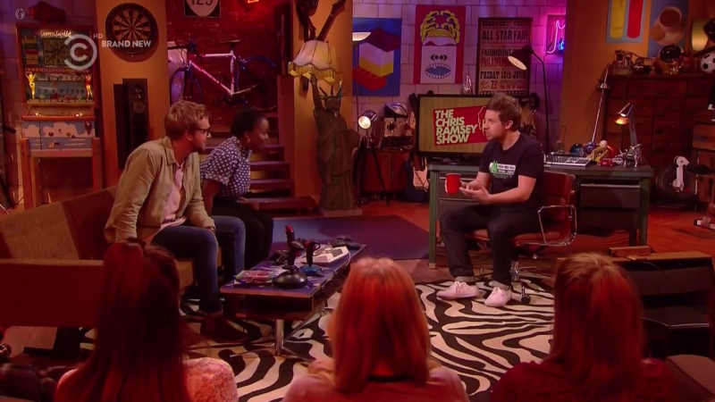 The Chris Ramsey Show 1x08 Lolly Adefope Iain Stirling