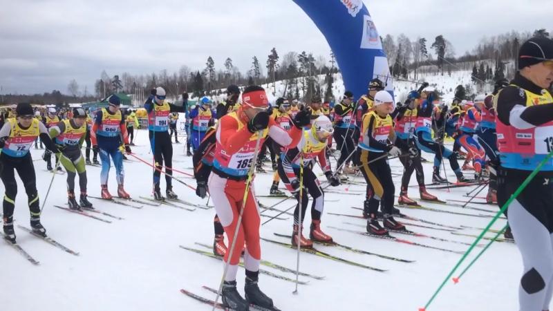 Старт X Традиционного международного РОСТЕХ Деминского лыжного марафона FIS/Worldloppet