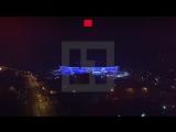 Донбасс-арена, видео с коптера