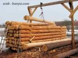 Сушка строительного леса в штабеле.