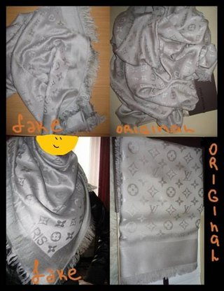 Как отличить оригинальную шаль Louis Vuitton от подделки 3447c9ae624