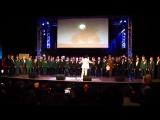 Родислав солирует в составе сводного мужского хора Санкт-Петербурга в песне