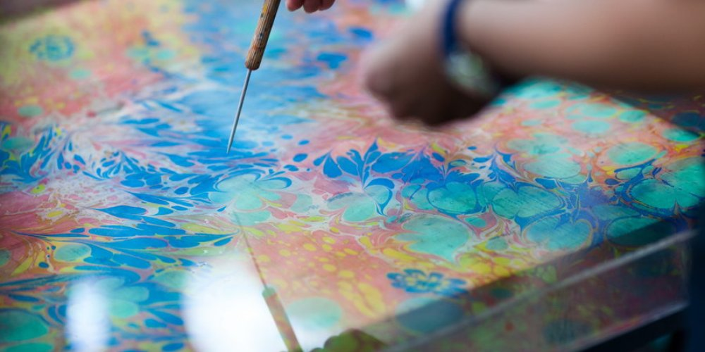 Краска для эбру в домашних условиях