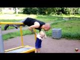 Тренировка для папы с ребенком #3- Спортивная площадка. Workout for dad with child #3- Sports ground