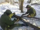 Армейский прикол - заводим пилу Дружба-2 (Russian army, army)