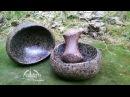 Миска и ступка из булыжника DIY How to Carve a Stone a bowl
