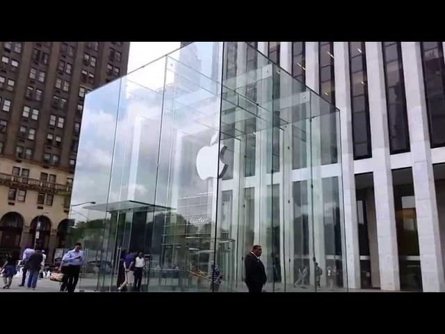Apple Store on Fifth Avenue, midtown Manhattan, New York City