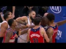 Video Bradley Beal puts his hand around Evan Fournier's neck gets called for the technical