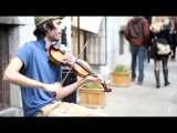Montreal violin street performer and amazing blast of fun and dance
