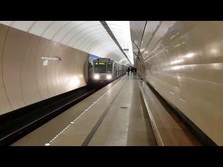Состав 81-717.6/714.6 прибывает на станцию Марьина роща