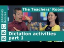 The Teachers' Room: Dictation activities part 1