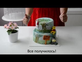 Как отделить тортик от картонной коробки
