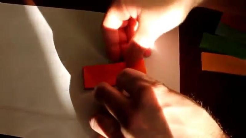 Объемная снежинка - звездочка из бумаги. 3D. Видео. Volume snowflake star paper
