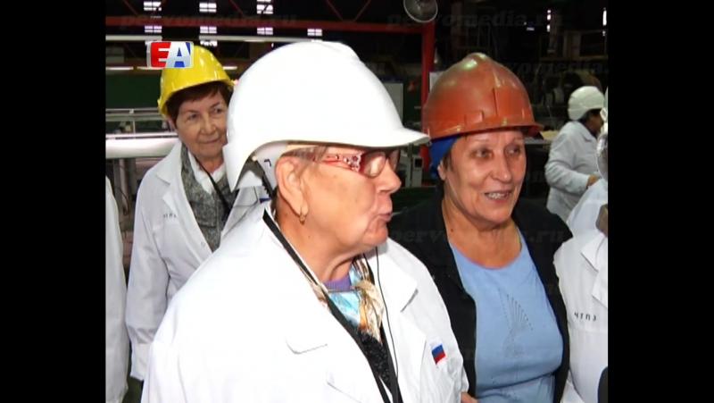Бывшие сотрудники Новотрубного посетили трубоволочильный цех