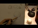Обучение рисунку. Введение. 7 серия- шар и светотень