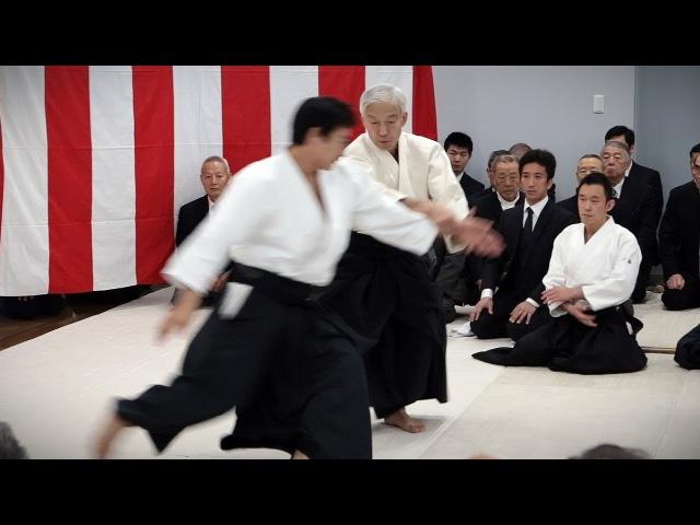 Aikido Doshu Moriteru Ueshiba Demonstration Aikikai Kagamibiraki 2017